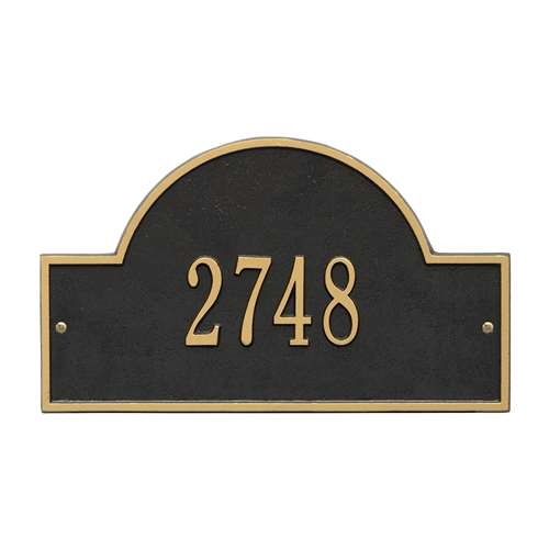 d63af28ccb8 Address Plaque 15.75 x 9.25 inch Standard Wall Aluminum Arch- One Line