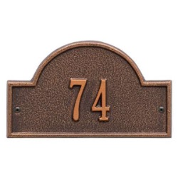 Address Plaque 8 x 4.75 inch Petite Wall Aluminum Arch- One Line