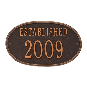 Established Date Personalized Plaque