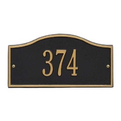 Address Plaque 12 x 6 inch Mini Wall Aluminum- Rolling Hills- One Line