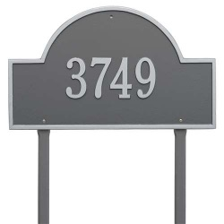 Address Plaque 23.75 x 14 inch Arch Estate Lawn Aluminum- One Line