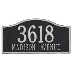Address Plaque 18 x 9 inch Grand Wall Aluminum- Rolling Hills- Two Line