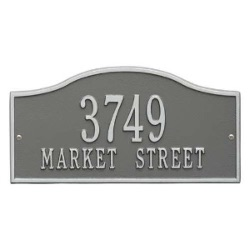 Address Plaque 15 x 7.25 inch Standard Wall Aluminum- Rolling Hills- Two Line