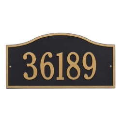 Address Plaque 18 x 9 inch Grand Wall Aluminum- Rolling Hills- One Line