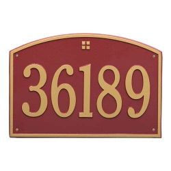 Address Plaque 20.5 x 14 inch Estate Wall Cape Charles Aluminum- One Line