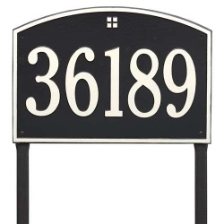 Address Plaque 20.5 x 14 inch Estate Lawn Cape Charles Aluminum- One Line