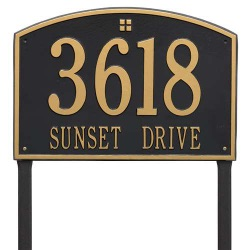 Address Plaque 20.5 x 14 inch Estate Lawn Cape Charles Aluminum- Two Line