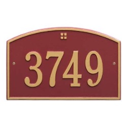 Address Plaque 15 x 9.5 inch Standard Wall Aluminum- Cape Charles- One Line