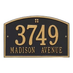 Address Plaque 15 x 9.5 inch Standard Wall Aluminum- Cape Charles- Two Line
