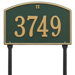 Address Plaque 15 x 9.5 inch Standard Lawn Aluminum- Cape Charles- One Line