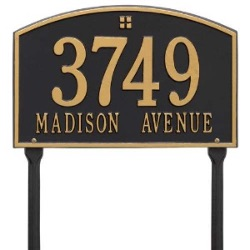 Address Plaque 15 x 9.5 inch Standard Lawn Aluminum- Cape Charles- Two Line