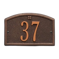 Address Plaque 7.5 x 4.75 inch Petite Wall Aluminum- Cape Charles- One Line