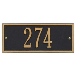 Address Plaque 10.5 x 4.25 inch Mini Wall Aluminum- Hartford- One Line