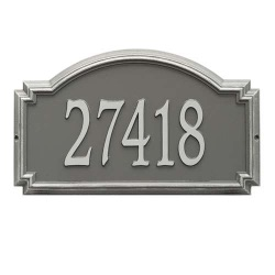 Address Plaque 20.5 x 12 x 1.25 inch Estate Wall Williamsburg Aluminum- One Line