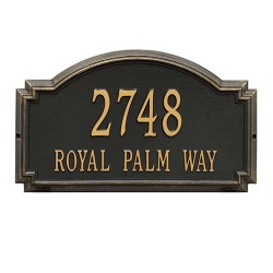Address Plaque 20.5 x 12 x 1.25 inch Estate Wall Williamsburg Aluminum- Two Line