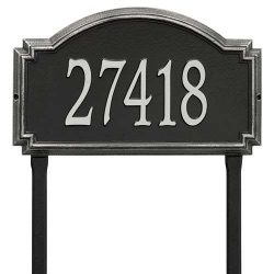 Address Plaque 20.5 x 12 x 1.25 inch Estate Lawn Williamsburg Aluminum- One Line