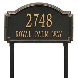 Address Plaque 20.5 x I2 x 1.25 inch Estate Lawn Williamsburg Aluminum- Two Line