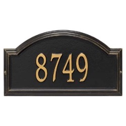 Address Plaque 17 x 9.5 x 1.25 inch Standard Wall Aluminum- Providence Arch- One Line