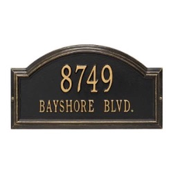 Address Plaque 17 x 9.5 x 1.25 inch Standard Wall Aluminum- Providence Arch- Two Line