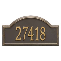 Address Plaque 22.5 x 12 x 1.25 inch Estate Wall Providence Arch Aluminum- One Line