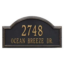 Address Plaque 22.5 x 12 x 1.25 inch Estate Wall Providence Arch Aluminum- Two Line