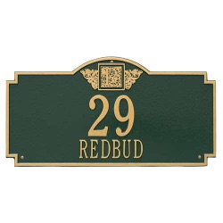 Address Plaque 22.5 x 12 x 1.25 inch Estate Lawn Providence Arch Aluminum- One Line