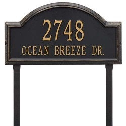 Address Plaque 22.5 x 12 x 1.25 inch Estate Lawn Providence Arch Aluminum- Two Line