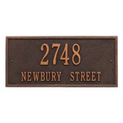 Address Plaque 16 x 7.5 inch Standard Wall  Aluminum- Hartford- Two Line