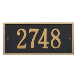 Address Plaque 16 x 7.5 inch Standard Wall Aluminum- Hartford- One Line
