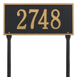Address Plaque 16 x 7.5 inch Standard Lawn Aluminum- Hartford- Two Line