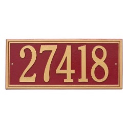 Address Plaque 23.25 x 10 inch Estate Wall Aluminum- Hartford- Two Line