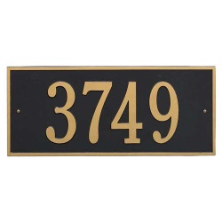 Address Plaque 23.25 x 10 inch Estate Wall Hartford Aluminum- One Line