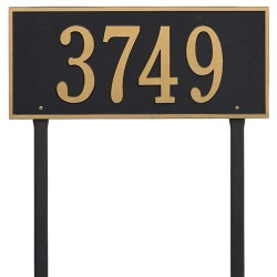 Address Plaque 23.25 x 10 inch Estate Lawn Hartford Aluminum- One Line