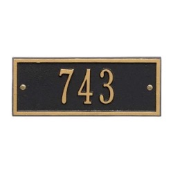 Address Plaque 8.75 x 3.5 inch Petite Wall Aluminum- Hartford- One Line