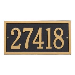 Address Plaque 14.625 x 7.25 inch Standard Wall Aluminum- Bismark- One Line