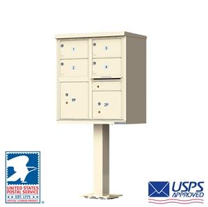 4 Tenant Door Standard Style Cluster Mailbox - Type 5 - Florence vital™ 1570 Series 1570-4T5 CBU