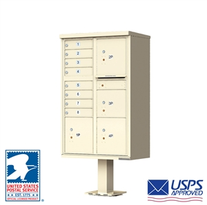 8 Tenant Door Standard Style Cluster Mailbox - Type 6 - Florence vital™ 1570 Series 1570-8T6 CBU