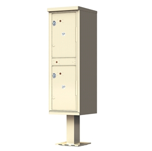 2 Door Pedestal Style - High Security Outdoor Parcel Locker - Type 1 - valiant™ 1590 Series 1590-T1