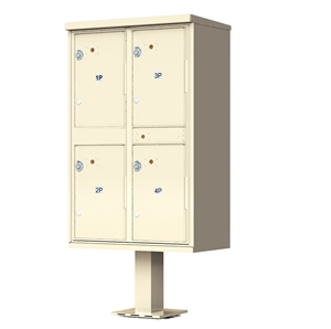 4 Door Pedestal Style - High Security Outdoor Parcel Locker - Type 2 - valiant™ 1590 Series 1590-T2