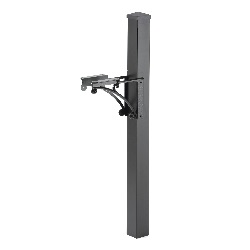 Superior Post 4 x 4 x 54 inch - Aluminum - Brackets, Finial