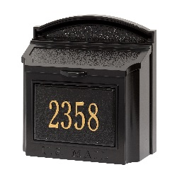 Wall Mount Mailbox 14.5 x 15 x 8 inch - Aluminum- Plaque