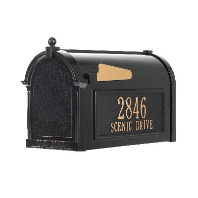 Capitol Mailbox 9.625 x 13 x 20.375 inch Aluminum with Side Plaques