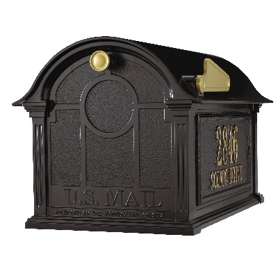 Balmoral Mailbox 13.7 x 13 x 21.25 inch with Side Plaques- Aluminum
