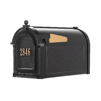 Capitol Mailbox 9.625 x 13 x 20.375 inch with Door Plaque- Aluminum