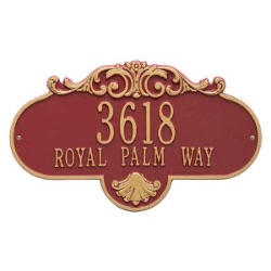 Address Plaque 17.5 x 10.25 inch Grande Wall Aluminum- Rochelle- Two Line