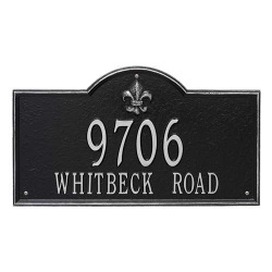 Address Plaque 21 x 12 x 0.375 inch Estate Wall Bayou Vista Aluminum- Two Line