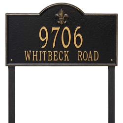 Address Plaque 21 x 12 x 0.375 inch Estate Lawn Bayou Vista Aluminum- Two Line