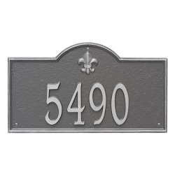 Address Plaque 21 x 12 x 0.375 inch Estate Wall Bayou Vista Aluminum- One Line