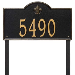 Address Plaque 21 x 12 x 0.375 inch Estate Lawn Bayou Vista Aluminum- One Line
