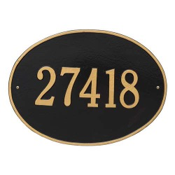 Address Plaque 19 x 14 inch Estate Wall Hawthorne Oval Aluminum- One Line